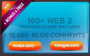 ★Google SEO Service:100 High Quality WEB 2.0 links +15K Blog comments 100% Safe